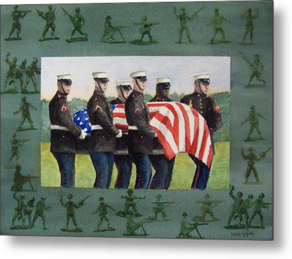 Army Men Metal Print by Haldy Gifford