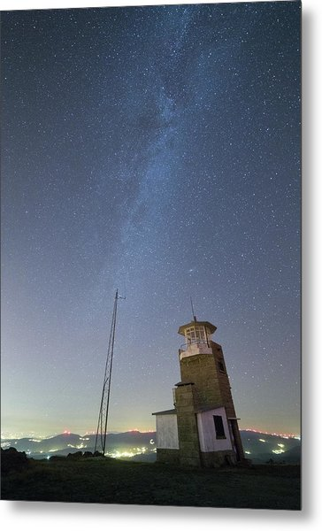 Metal Print featuring the photograph Arouca And The Milky Way by Bruno Rosa