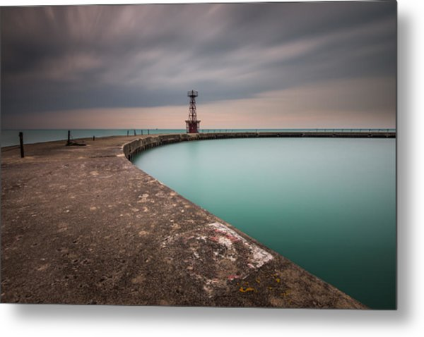 Around The Aqua Metal Print