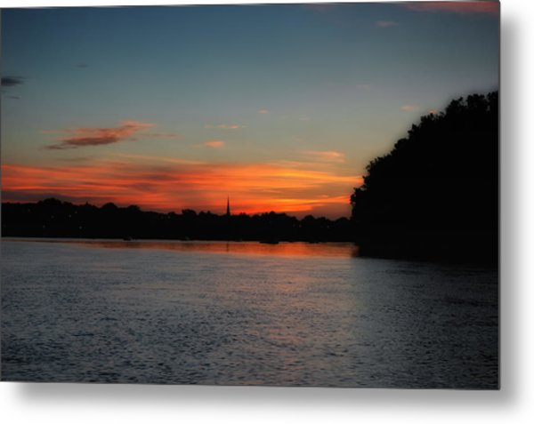 Around The River Bend Metal Print by Ross Powell