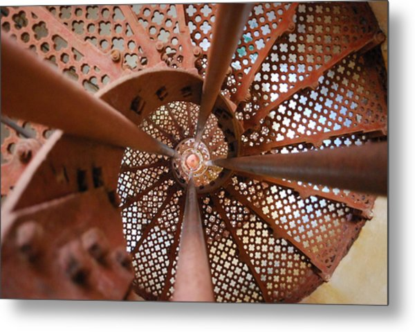 Around The Twist Metal Print by Susette Lacsina