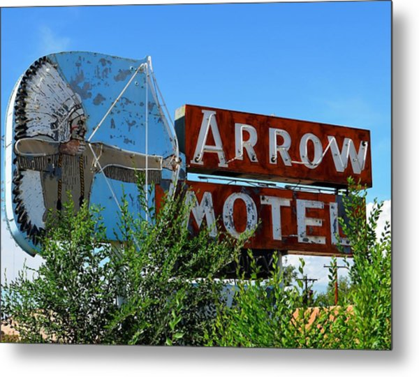 Arrow Motel Metal Print