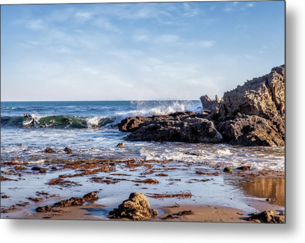 Arroyo Sequit Creek Surf Riders Metal Print