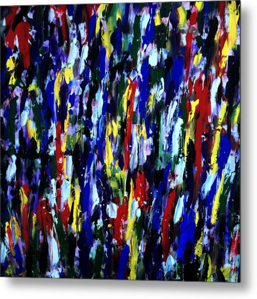 Art Abstract Painting Modern Color Metal Print