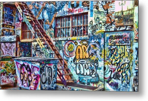 Art Alley 2 Metal Print