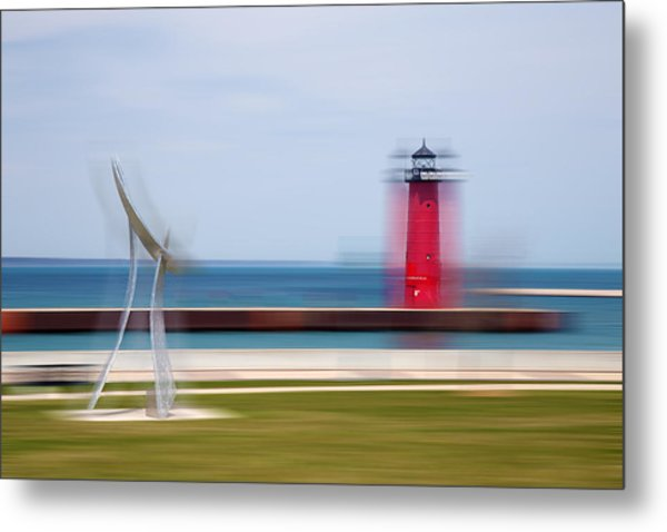 Art By The Lake Shore Metal Print
