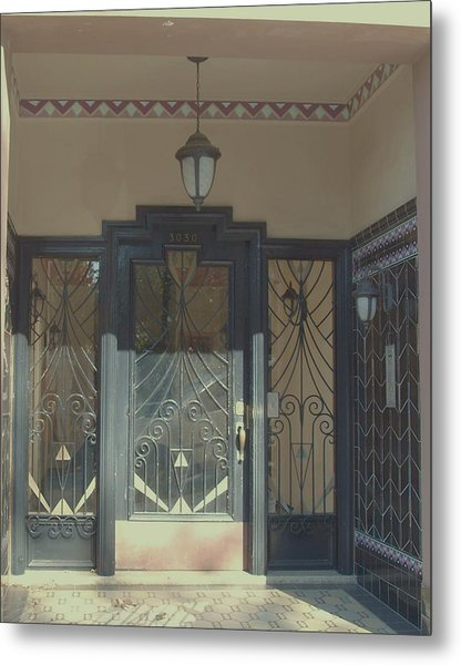 Art Deco Door Metal Print by James Johnstone