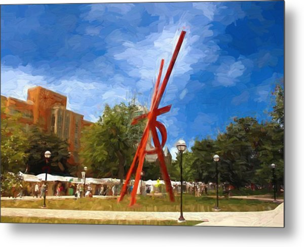Art Fair Painting Metal Print
