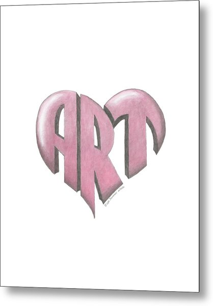 Art Heart Metal Print