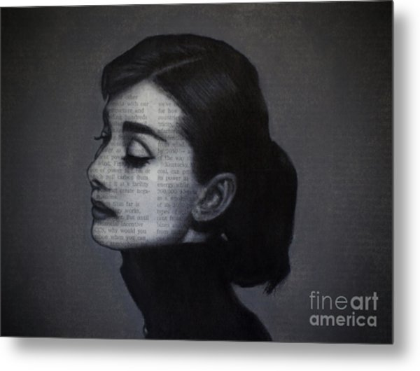 Art In The News 98-audrey Hepburn Metal Print