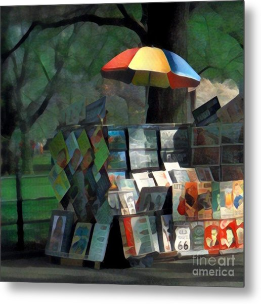 Art In The Park - Central Park New York Metal Print