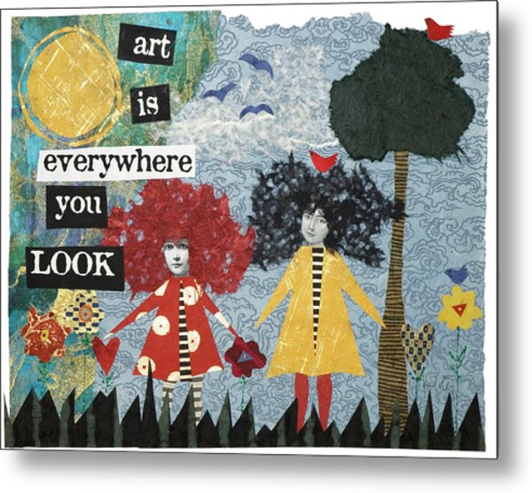 Art Is Metal Print by Kay Foley