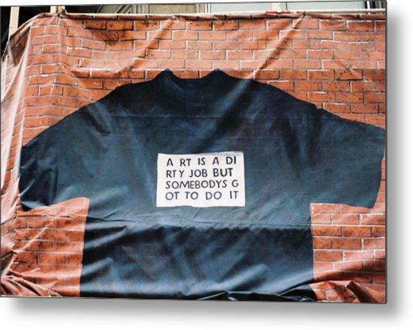 Art Shirt Metal Print