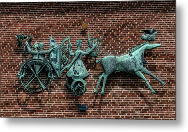 Art Work In Ystad, Sweden Metal Print
