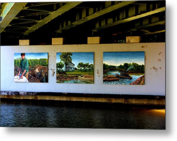 Art Work On The Erie Canal Metal Print by Richard Jenkins