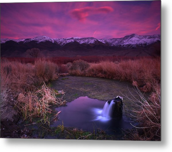 Artesian Sunset Metal Print by Chris Morrison
