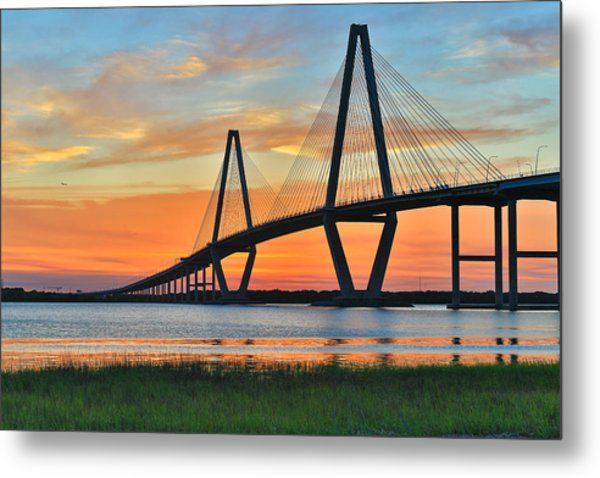 Arthur Ravenel Jr. Bridge At Dusk - Charleston Sc Metal Print