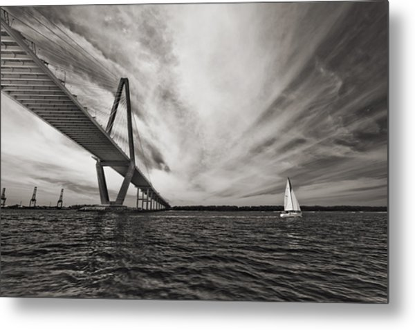 Arthur Ravenel Jr. Bridge Over The Cooper River Metal Print