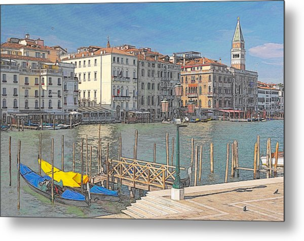 Artist Impression Of Venice Metal Print by Johan Elzenga