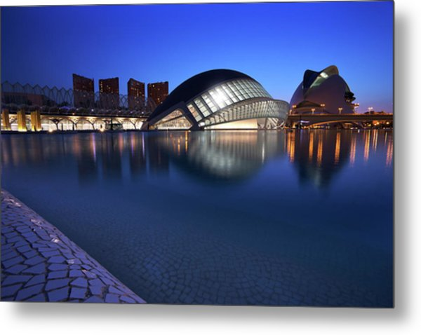 Arts And Science Museum Valencia Metal Print