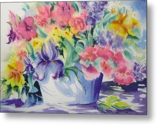 Arts-flowers Metal Print by Nancy Newman