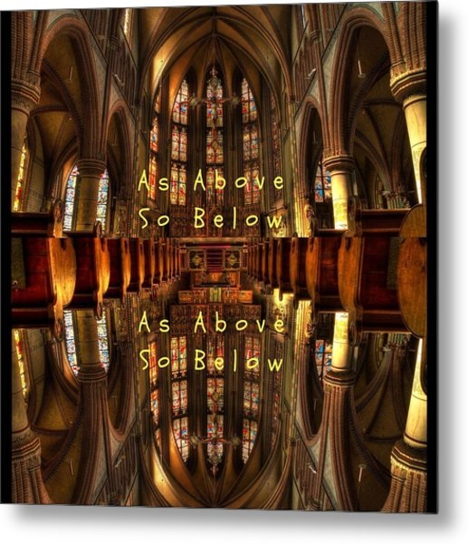 As Above So Below Metal Print