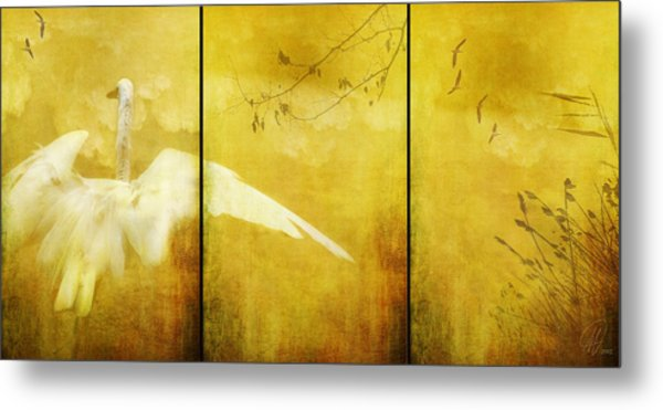 As Birds Fly Up..... Metal Print