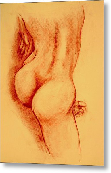 Asana Nude Metal Print