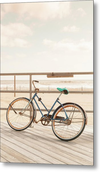 Asbury Park Bicycle Metal Print by Erin Cadigan