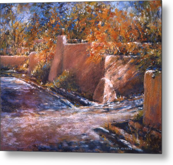 asequia Madre in Fall Metal Print by James Roybal