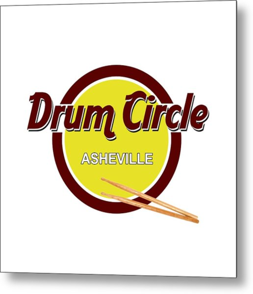 Asheville Drum Circle Logo Metal Print