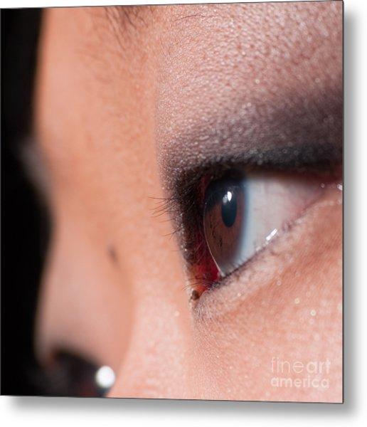 Asian Girl Eyes 1283053 Metal Print