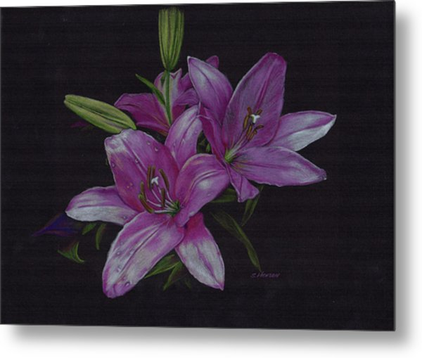 Asian Lillies Metal Print