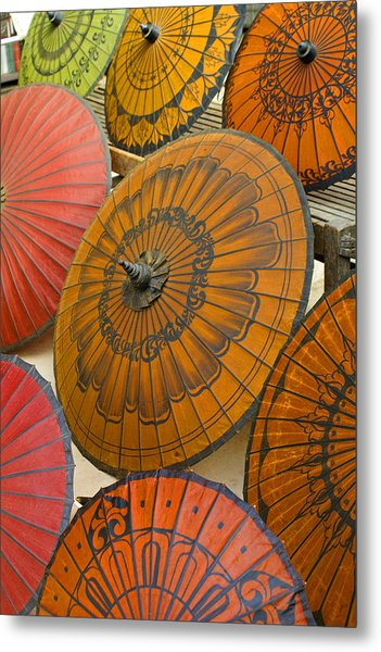 Asian Umbrellas Metal Print