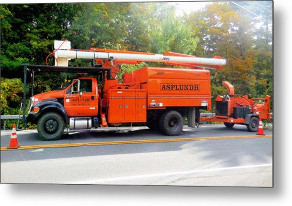 Asplundh Tree Expert Company Trucks Metal Print