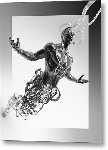 Metal Print featuring the digital art Assimilation by Uwe Jarling