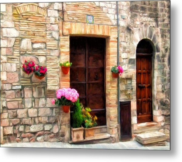 Assisi Doorways Metal Print