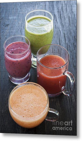 Assorted Smoothies Metal Print