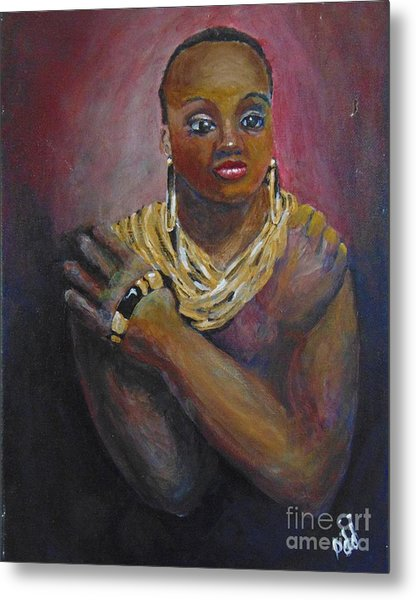 Metal Print featuring the painting Assured by Saundra Johnson