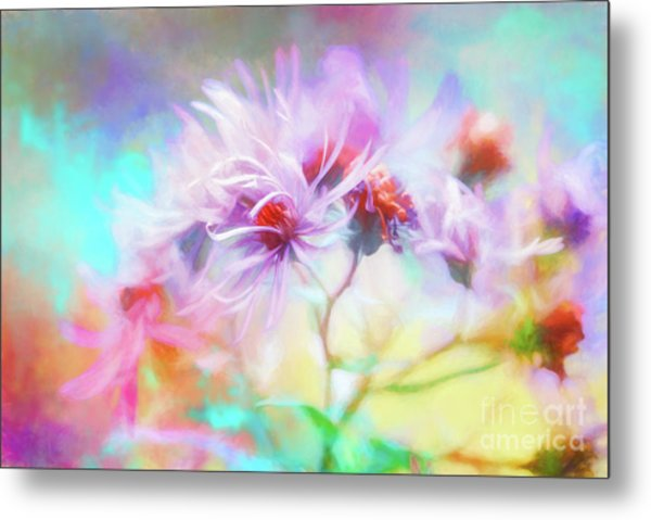 Asters Gone Wild Metal Print