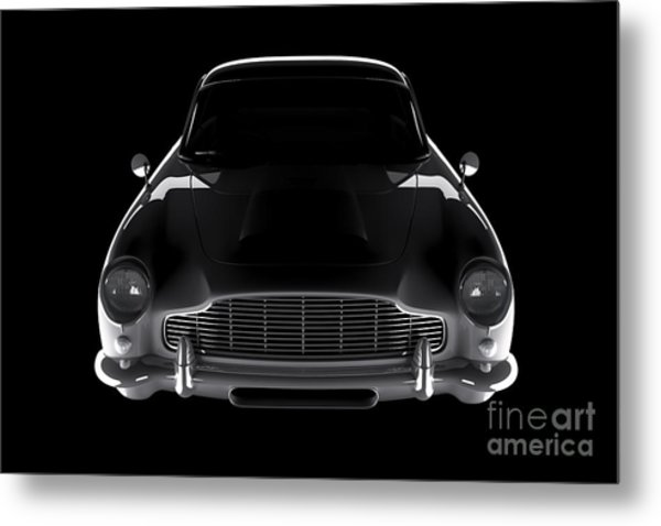 Aston Martin Db5 - Front View Metal Print