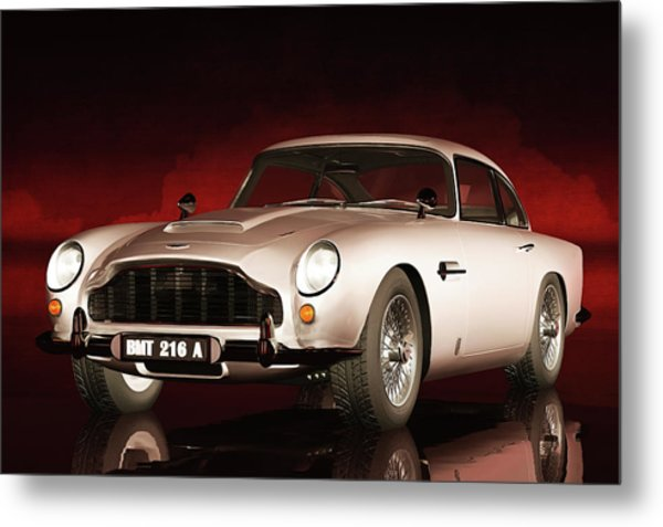 Metal Print featuring the painting Aston Martin Db5 by Jan Keteleer