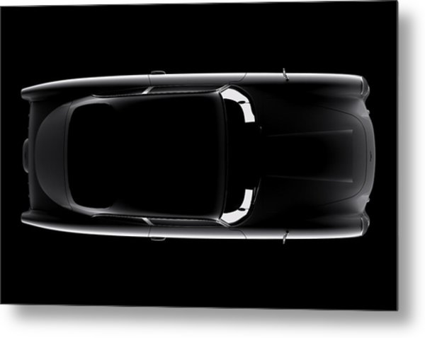 Aston Martin Db5 - Top View Metal Print
