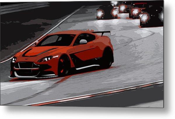 Aston Martin Vantage Gt12 Metal Print by Andrea Mazzocchetti