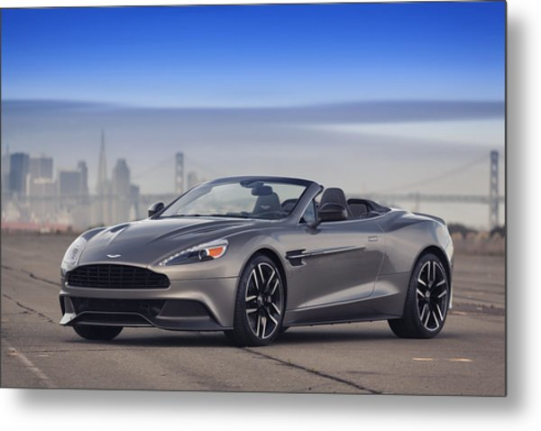 Metal Print featuring the photograph Aston Vanquish Convertible by ItzKirb Photography