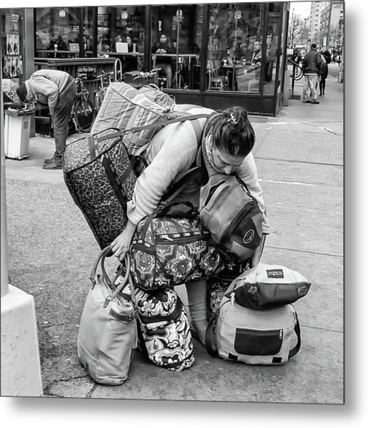Bag Lady Metal Print