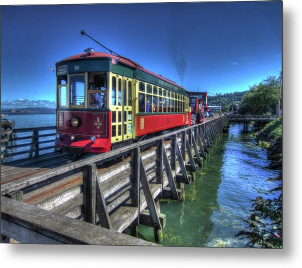 Astoria Riverfront Trolley Metal Print