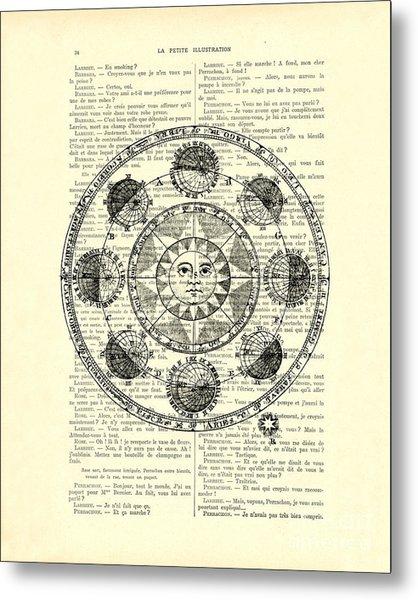 Astrology Chart, Solar System Metal Print