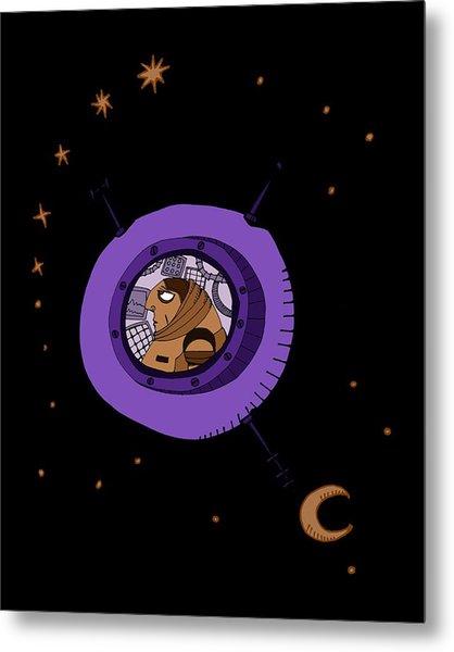 Astronaut In Deep Space Metal Print