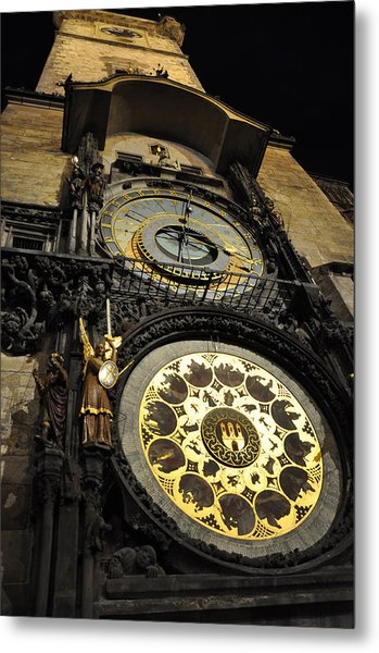 Astronomical Clock Metal Print by Heidi Pix